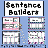 Sentence Builders (For Preschool, Pre-K, Kindergarten, and