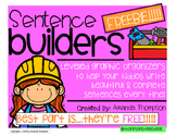 Sentence Builders: Leveled Graphic Organizers FREEBIE