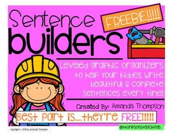 Sentence Builders- Leveled Graphic Organizers- FREEBIE!