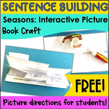 Sentence Building Activities with Pictures: Free Interactive Book