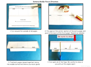 Sentence Building Picture Activities Free Interactive Book