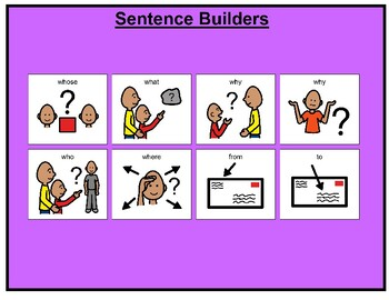 Sentence Builders Matching Boards/Games