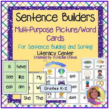 Sentence Builders  Multi-Purpose Picture/Word Cards  For Pocket Charts & Centers