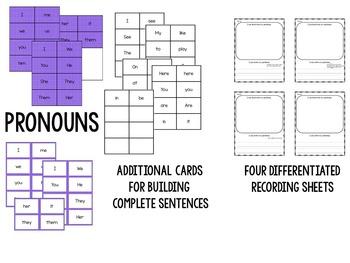 Sentence Builders Pocket Chart Center (August and September)