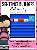 Sentence Builders Pocket Chart Center (February)