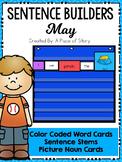 Sentence Builders Pocket Chart Center (May)