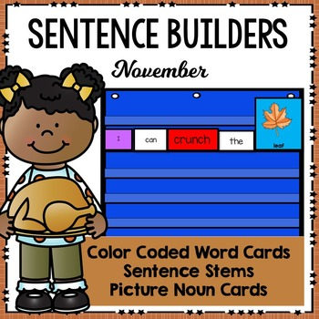 Sentence Builders Pocket Chart Center (November)