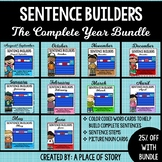 Sentence Builders Pocket Chart Center (YEAR BUNDLE)