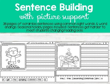 Sentence Scrambles With Picture Support
