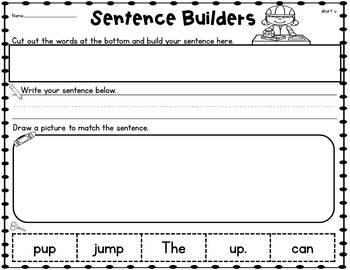 Sentence Builders Short Vowels BUNDLE