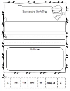 Sentence Builders Summer Edition