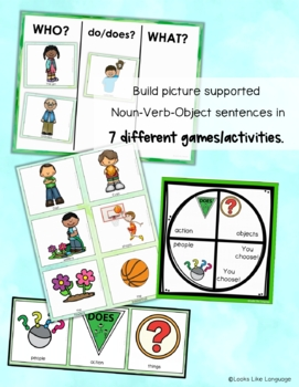Sentence Building Picture Activities for Spring