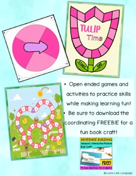 #HoppyHalfDeal  Sentence Building   Spring Picture Activities   WH Questions