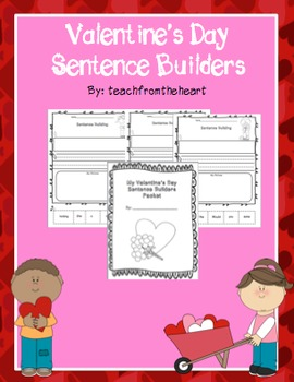 Sentence Builders Valentine's Day Edition