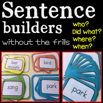 Sentence Builders: Without the frills