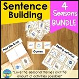 Picture Sentence Building & WH Questions: Seasons Bundle-