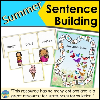 Sentence Building Activities with Pictures: Summer!
