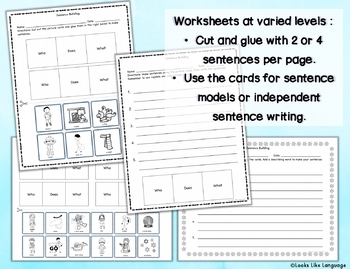 Sentence Building Activities with Pictures: Winter!