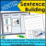 Sentence Building Picture Activities | Worksheets | Winter