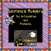 Sentence Builders for Articulation & Pronouns - Halloween Edition
