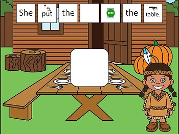 Sentence Builders for Articulation & Pronouns - Thanksgiving Edition