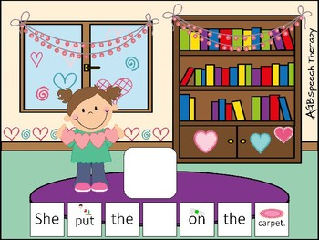 Sentence Builders for Articulation & Pronouns - Valentine's Day Edition