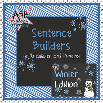 Sentence Builders for Articulation & Pronouns - Winter Edition