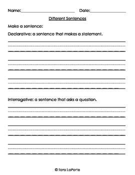 Sentence Building L1.1j