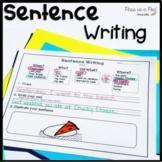 Sentence Building Activity Writing Complete Sentences ⭐ Summer Sentence Scramble