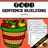 Kindergarten Sentence Building - First Grade Sentence Building Worksheets FALL