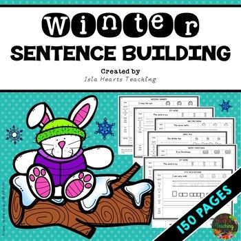 Kindergarten Sentence Building - First Grade Sentence Building ...