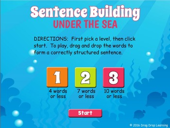 Smartboard Sentence Building Game