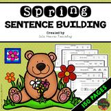 Kindergarten Sentence Building - First Grade Sentence Building Worksheets SPRING