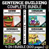 Sentence Building Worksheets Free Teachers Pay Teachers - View Sentence Building Worksheets For Kindergarten Pdf Background