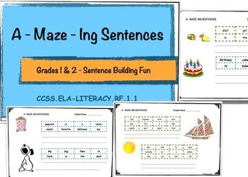 Sentence Building - A-Maze-ing Sentences