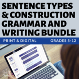 Sentence Construction, Sentence Writing, Grammar BUNDLE -