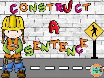 Sentence Building Activity Center-Kindergarten-First Grade