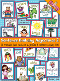 Sentence Building: Adjectives Flash Cards 2