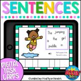 Sentence Building Boom Cards Spring Kindergarten Activity
