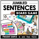 Sentence Building Board Game |  Simple Present Verbs : BE & HAVE