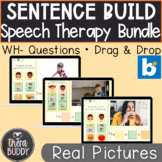 Sentence Building Bundle BOOM Cards Speech Therapy