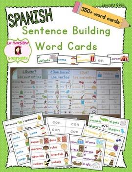 Writing: Sentence Building Cards (Spanish)
