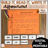 Sentence Building Center - Fall Edition