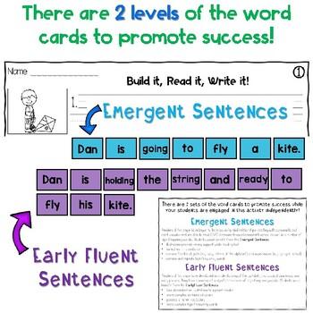 Sentence Building Center - Spring Edition