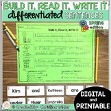 Sentence Building Center - Spring Digital Google Classroom™/Slides™ Seesaw