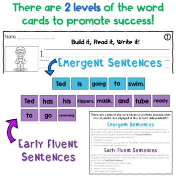 Sentence Building Center - Summer Edition