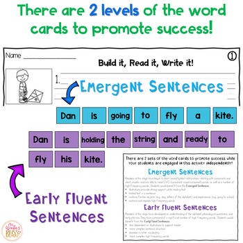 Sentence Building Center - YEAR LONG BUNDLE