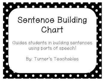 Sentence Building Chart - Build sentences using parts of speech! (Grammar)