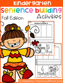 Kindergarten Sentence Building (Fall Edition)
