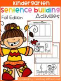 Kindergarten Sentence Building (Fall Edition)